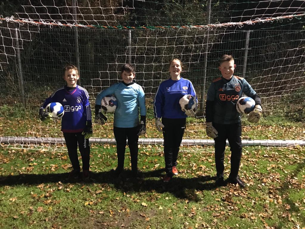 Keeperstraining jeugdkeepers Milheezer Boys een succes!